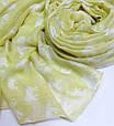 Чудесный женский легкий шарф-парео 180 на 90 dress 704_желт, фото 3