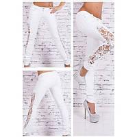 Женские штаны белого цвета