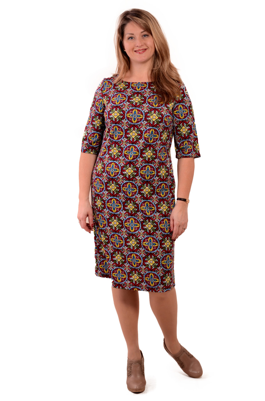 Сукня жіноча ошатне тепле з трикотажу ПЛ 146