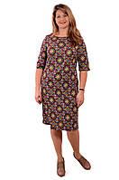 Платье женское нарядное теплое из трикотажа ПЛ 146