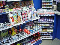 Стеллажи торговые для автотоваров. Стеллаж в автомагазин. Торговое оборудование WIKO (ВИКО) Киев