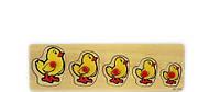 Рамка-вкладыш Цыплята развивающая деревянная игрушка 2 вида