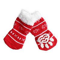Носки антискользящие для собак, Dobaz Снежинка
