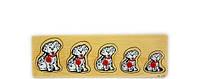 Рамка-вкладыш Собачки развивающая деревянная игрушка 2 вида