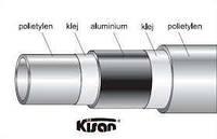 Труба для теплого пола металопластиковая Kisan PE-RT\AL\PE 16 Х 2.0 белая