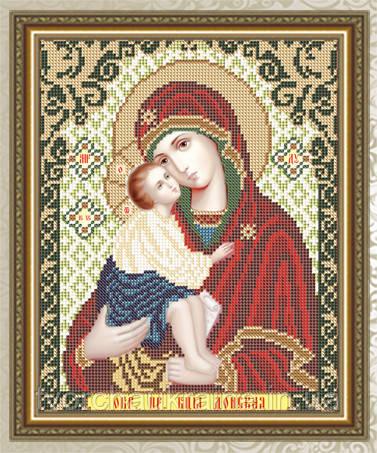 Авторская канва для вышивки бисером «Образ Пресвятой Богородицы Донская»