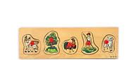 Рамка-вкладыш Домашние животные деревянная игрушка