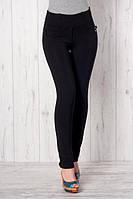 Черные брюки-лосины, р.42,44,50 код 2651М