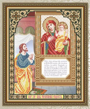Авторская канва для вышивки бисером «Нечаянная Радость Образ Пресвятой Богородицы»