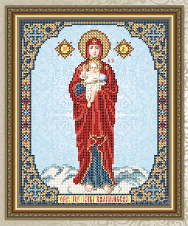 Авторская канва для вышивки бисером «Валаамская Образ Пресвятой Богородицы»