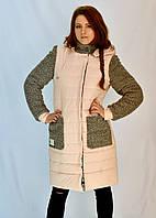 Комбинированная куртка прямого кроя