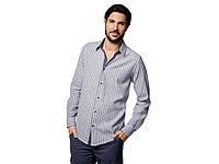 Суперская полосатая льняная рубашка от Livergy размер L(41-42)