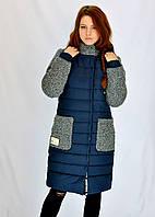 Куртка горловина и карманы из шерсти-букле