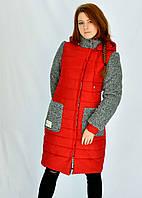 Зимняя куртка Верона красного цвета