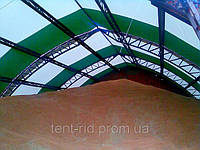 Строительство каркасно-тентового зернохранилища