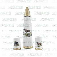 Подарок охотнику. Графин-патрон и две чарки OHK-Ltd  13/229