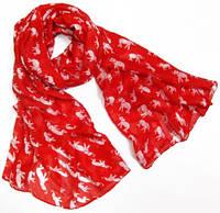 Выразительный женский легкий шарф-парео 180 на 90 dress 704_красн