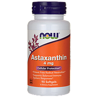 Астаксантин - мощнейший антиоксидант, Now Foods, Astaxanthin, 4 mg, 90 капсул