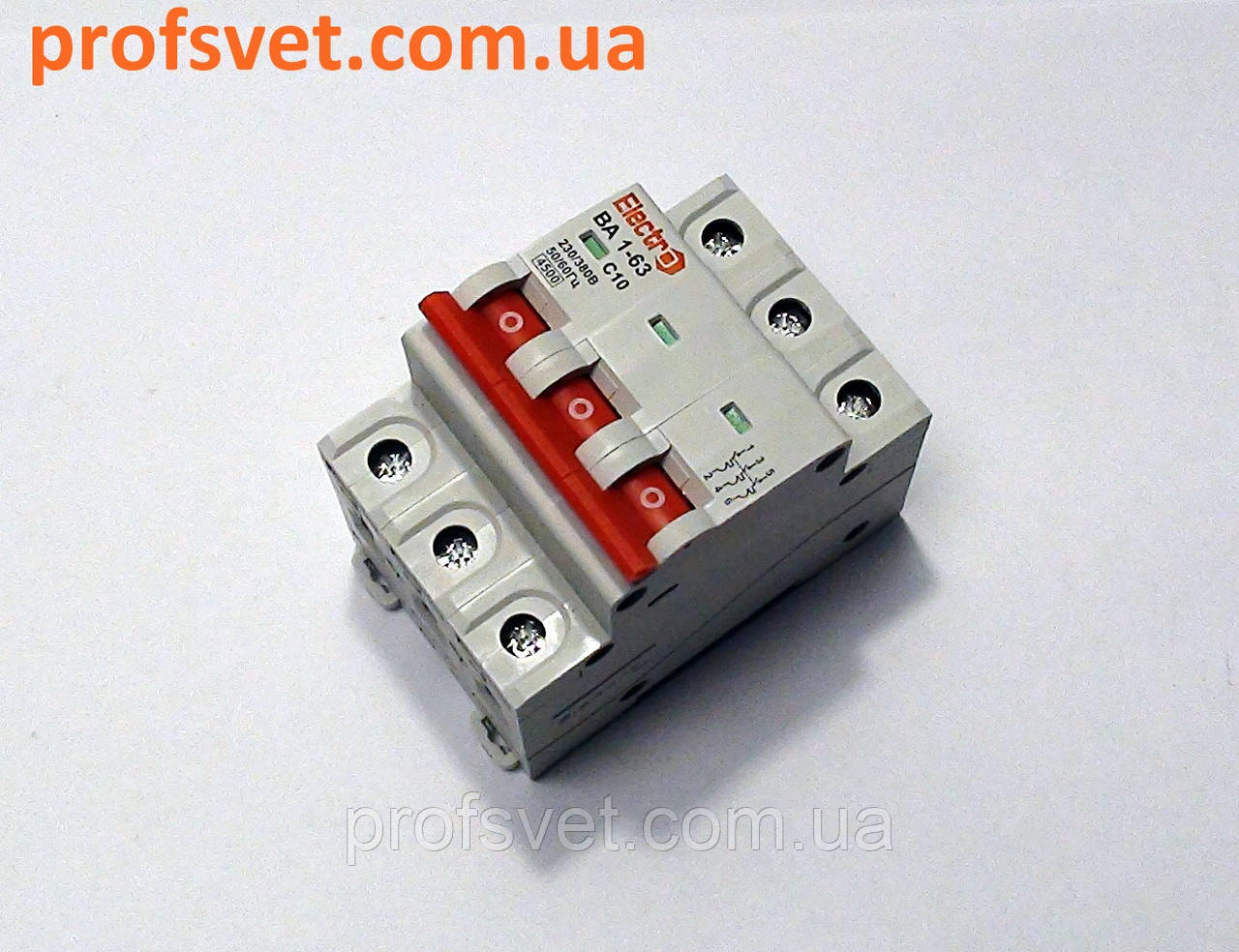 Автомат выключатель трехполюсный 50А ВА1-63 С