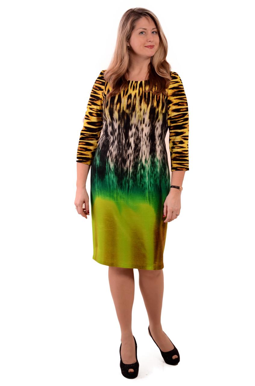 Сукня жіноча тепле з тигровим принтом ,пл 058 розмір 46 - 54