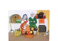 Рамка-вкладыш Сказка Курочка Ряба деревянная игрушка