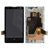 Дисплейный модуль для мобильного телефона Nokia 1020 Lumia, черный