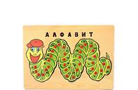 Рамка-вкладыш Алфавит развивающая деревянная игрушка