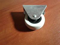 Колесо мебельное опорное, не поворотное, резиновое, белое ( Ф-50 мм) 50*20, HTS Турция