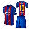 Футбольная форма детская Барселона Месси №10. Основная форма 2017