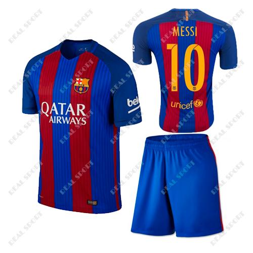 1557abb0d769 Футбольная форма детская Барселона Месси №10. Основная форма 2017 -  Интернет-магазин «