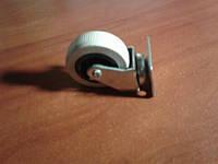 Колесо мебельное опорное, поворотное на площадке, резиновое, белое ( Ф-50 мм) 50*20, HTS Турция