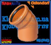 Колено для наружной канализации 110х30 (Ostendorf)