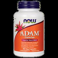 Адам витамины для мужчин, Adam Superior Men's Multi, 90 капсул, Now Foods