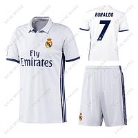 Детская футбольная форма  ФК Реал Мадрид,  Криштиану Роналду № 7 Домашняя форма 2017