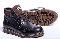 Ботинки кожаные CAT Black Boots