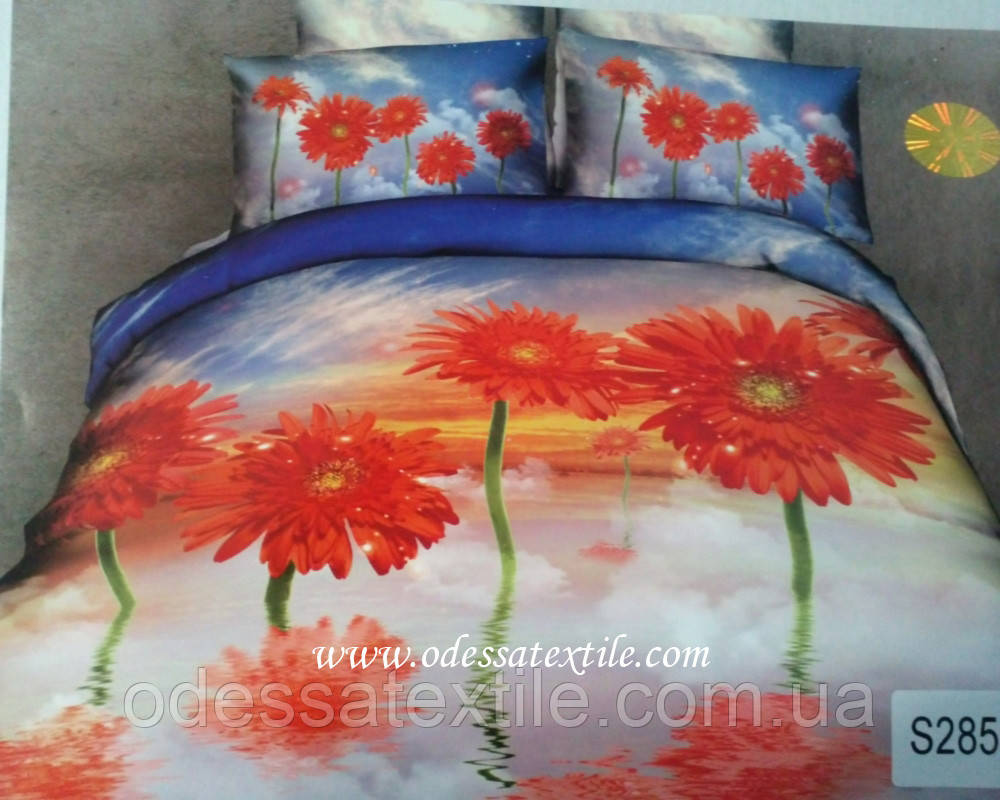 Комплект постельного белья  ELWAY сатин 3D 285
