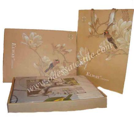 Комплект постельного белья  ELWAY сатин 3D 285, фото 2