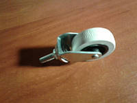 Колесо мебельное, поворотное резьбовое Ф М-8, резиновое, белое ( Ф-50 мм) 50*20, HTS Турция