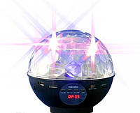 Светомузыка Диско шар лампа с аккумулятором ФМ радио и USB MP3 2015-3