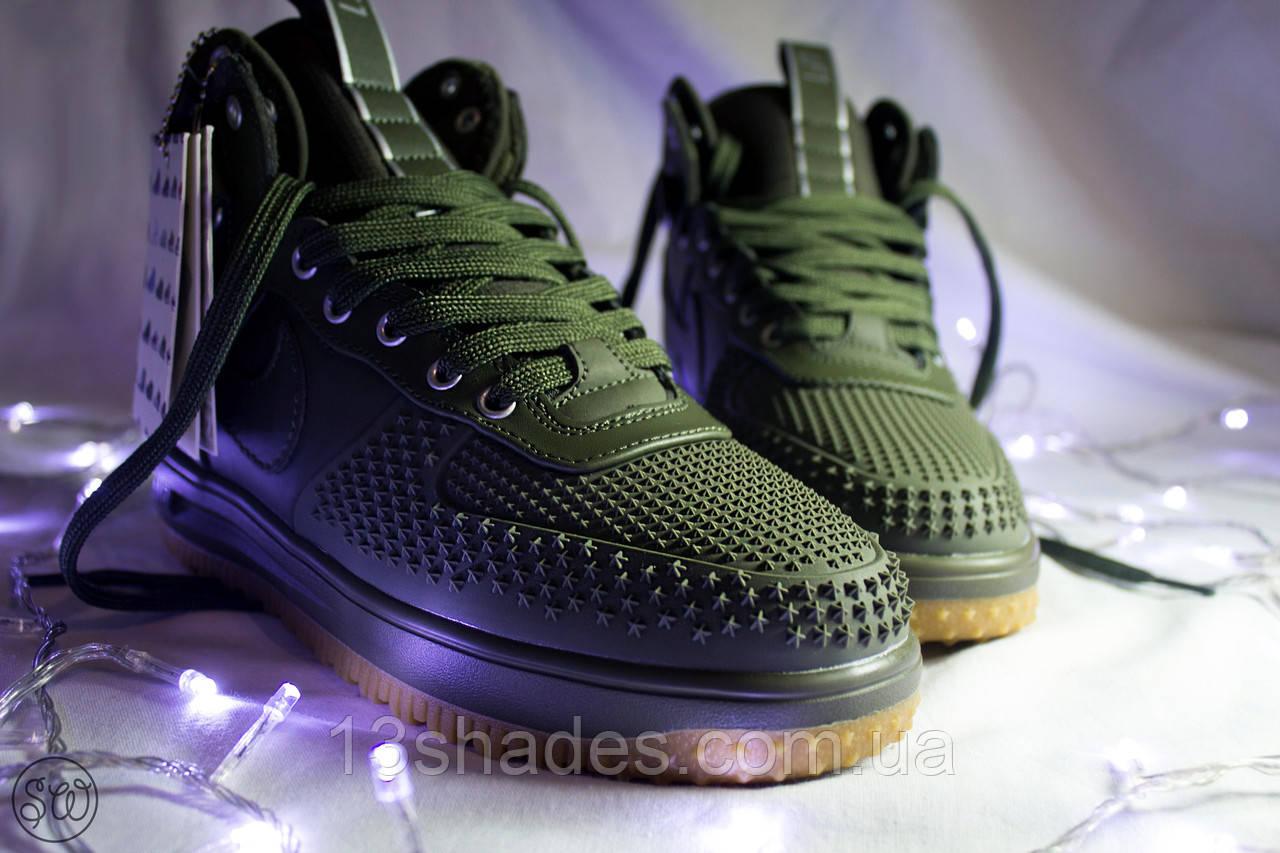 Кроссовки мужские высокие Nike Lunar Force 1 Duckboot зелёный - Интернет- магазин