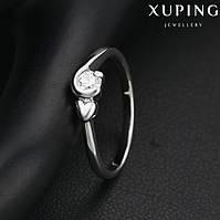 Кольцо 13956 размер 17, позолота Белое Золото