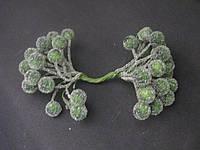 Тычинки для цветов  хрустальное покрытие  шарик темно-зеленыее