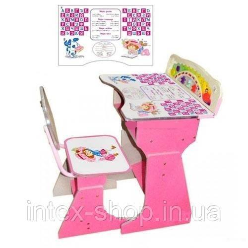 Регулируемая детская парта растишка со стульчиком Bambi HB 2075-02