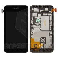 Дисплейный модуль для мобильного телефона Nokia 530 Lumia, черный
