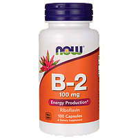 Витамин B-2 (Рибофлавин), Now Foods, 100 капсул