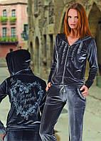 Спортивный костюм велюровый рюшки  женский