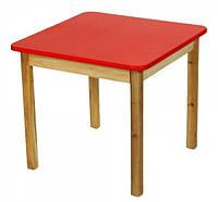 Детский деревянный столик цветной красный