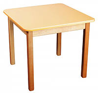 Детский деревянный столик цветной ваниль