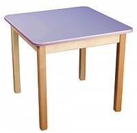 Детский деревянный столик цветной фиолетовый