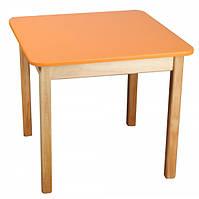 Детский деревянный столик цветной оранжевый